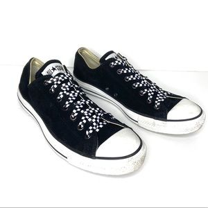 Converse black suede All Star sneakers